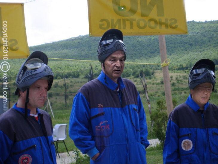 Para zgjedhjeve ne LDK, Fatmir Sejdiu, Bujar Bukoshi dhe Eqrem Kryeziu kane shku ne paintball, me u gjujt pak